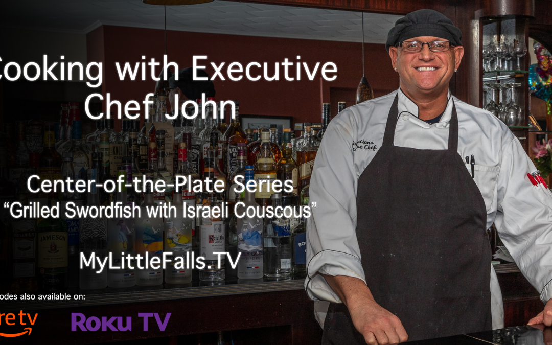 Chef John's Grilled Swordfish with Israeli Couscous recipe