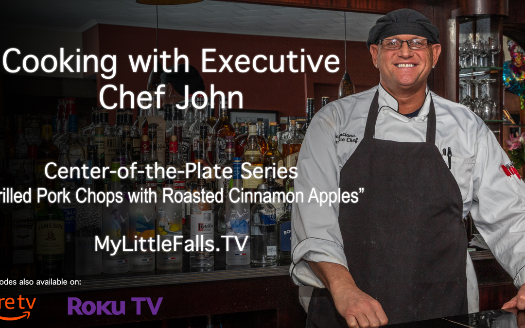 Chef John's Grilled Pork Chop with Roasted Cinnamon Apples